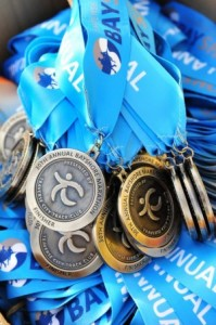 This year's medals / Photo courtesy Bayshore Marathon