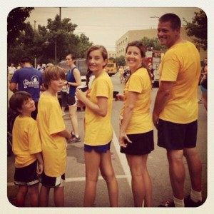 Our first Cherry Fest 5K all together, in 2012.