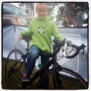 My sweet friend Cassy's boy, Isaac, fell in love with my bike. What a sweetie, he wants to do the race next year. :)