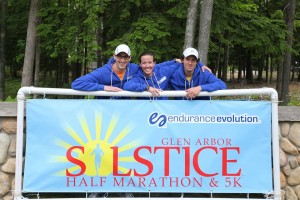Joel, Cassy & Eric of Endurance Evolution, which puts on the Solstice Half Marathon & 5K. Great job, guys!