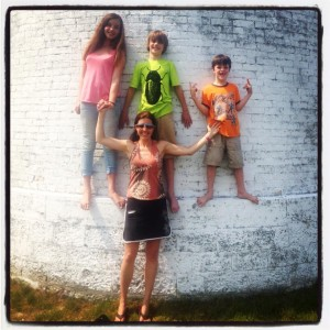 A tradition dating back to my youngest years: standing against the Lighthouse wall. Now my kids can say they've done it.