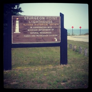 At the Lighthouse on Lake Huron.