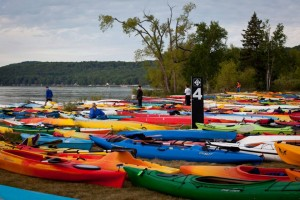Kayaks all ready for race participants./photo courtesy M22
