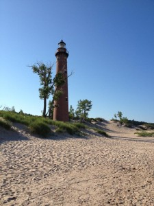 Little Sable Point Lighthouse in Golden Township, about three miles west of Silver Lake State Park. It was the perfect out-and-back running route.