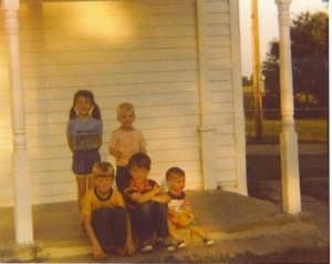 That's me on the far left, with the long pigtails. I always have loved being outside, running around, seeing what adventures I could find.