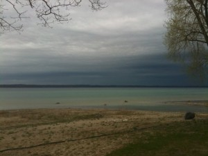 A photo of West Bay during one of my runs out Old Mission Peninsula.