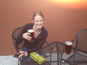 Jessie, post-race at Petoskey Brewing Co.