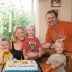 Jessica and her family: Husband Mike, Austin, 6, Aidan, 3, Ashton, 2.