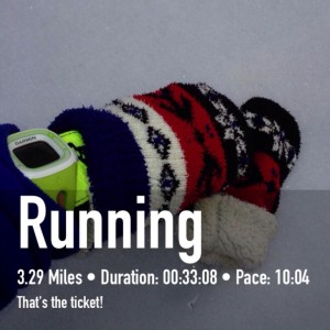 """Nichole S. shared this photo of what works for her: """"I wear these mittens over my Brooks gloves! This way if I need my fingers and have to take my mittens off, I still have the gloves on. The thumb in the gloves pulls back to expose my bare thumb if needed. This is the only thing I've come up with to keep my fingers warm from the get go."""""""