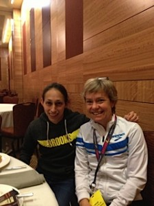 Lisa and Olympic runner Desiree (Desi) Davila Linden, who trains with Michigan-based Hansons-Brooks Distance Project.