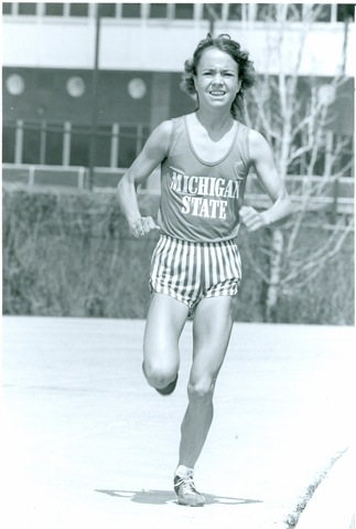 Lisa, during her running days at Michigan State University.