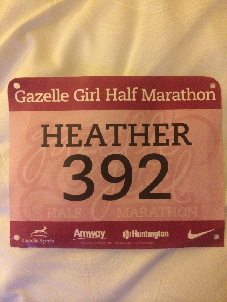 Love the touch of having your name printed on the race bib.