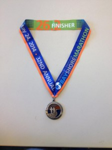 This year's finisher's medal.