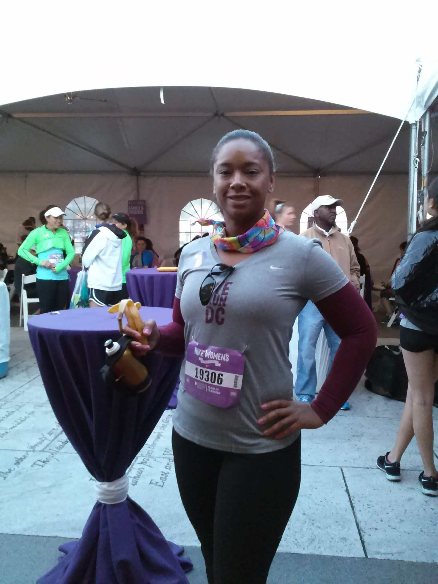 Meisha ran the Nike Women's Half Marathon in Washington, D.C. as a Team In Training member.