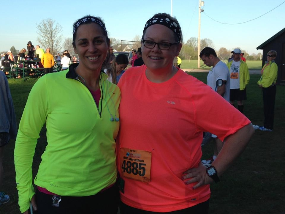 Kendra and me before the race.