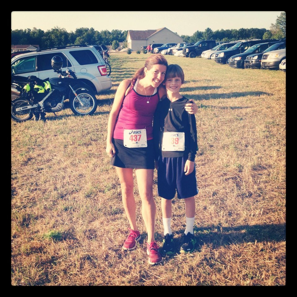 Andrew and me at the 2012 BIGS Little Trail 5K.