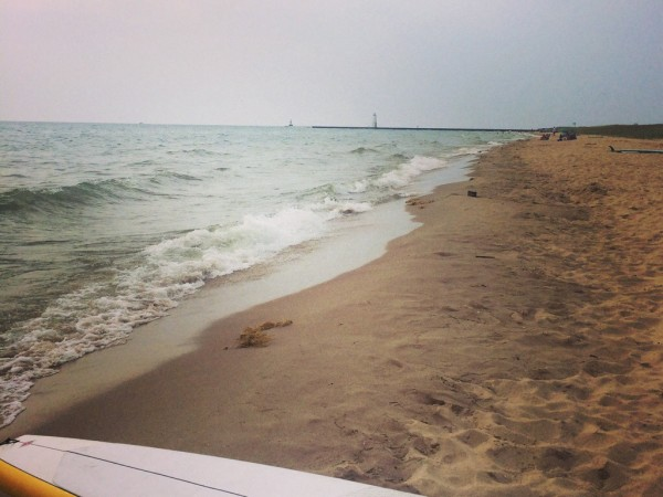 An afternoon well spent on the shores of Lake Michigan in Elberta.