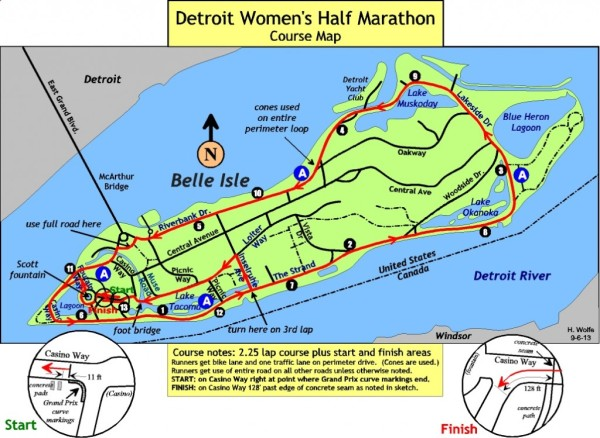 The half-marathon course.