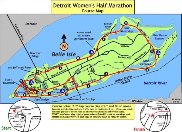 The half-marathon course.