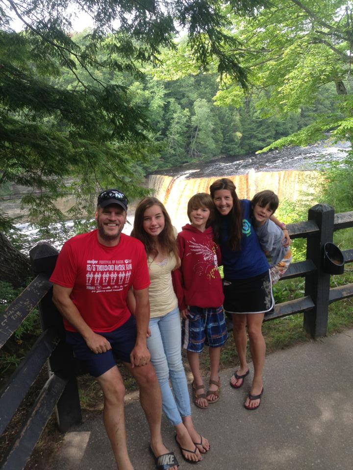One of my favorite family photos, in a favorite Michigan place - Tahquamenon Falls State Park. ~ 2013.