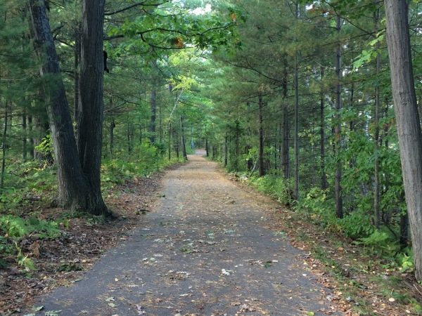The paved pathway on the east side of Boardman Lake in Traverse City eventually will connect to a new trail on the west side of the lake.