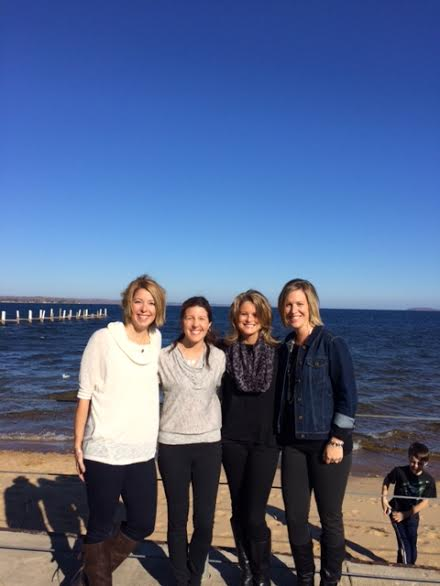 One of the best things about Michigan Runner Girl: meeting fellow Michigan Runner Girls. This weekend I met up with (from the left) Amy, Marie and Kari. They were up north to wine, dine, shop and RUN. They each bought an MRG hoodie, and I'm so excited I was able to hand deliver these to them!