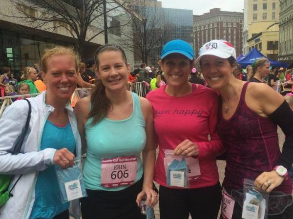 Katie, Erin, Pam & me at the finish of the 2014 Gazelle Girl Half Marathon in Grand Rapids. I'm so excited to be partnering with race organizers, to help spread the news of the 2015 event -- we had so much fun running this race!