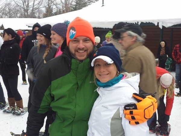Jason, my brother-in-law, and his girlfriend Nicole at this weekend's Big Foot Snowshoe Race in Traverse City. They've run three 5Ks together within the past three months.