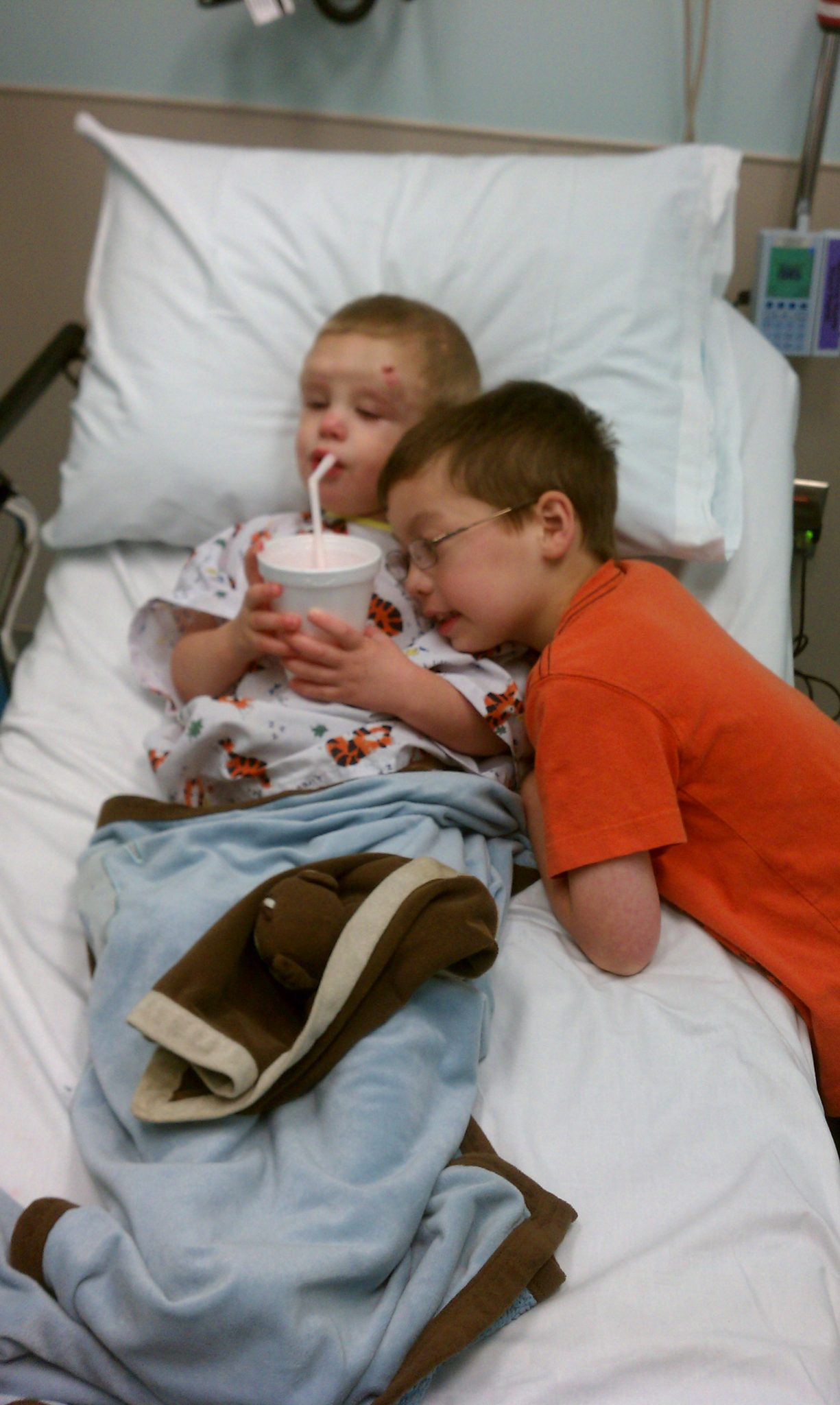 Emmett and his brother Travis.