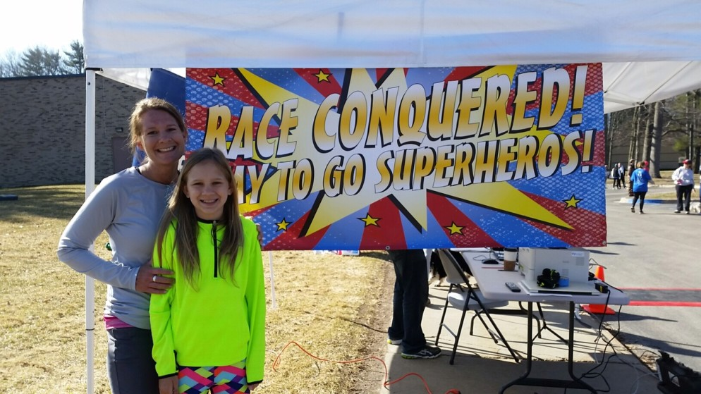 Erin and her daughter Chloe participated in this weekend's BIG Little Hero Run in Traverse City.