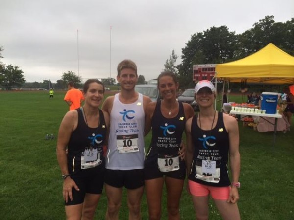 Runners at the Vineyard to Bay 25K, 15K/10K relay & 5K run/walk in Suttons Bay. Race organizers of this event are among those who have offered Michigan Runner Girl readers special race discount codes.