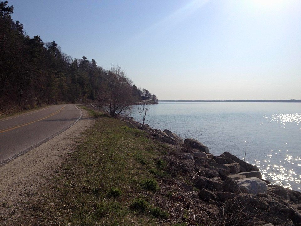 Old Mission Peninsula's Bluff Road, part of the Bayshore race course.