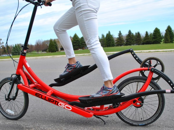 """Described as the """"ultimate cross-trainer for runners,"""" the ElliptiGO is a low-impact running alternative. I rode one at Grand Traverse Resort & Spa near Traverse City, not long after finishing the Boston Marathon--it was a great exercise during my race recovery. The Resort offers these bikes to guests and club members."""