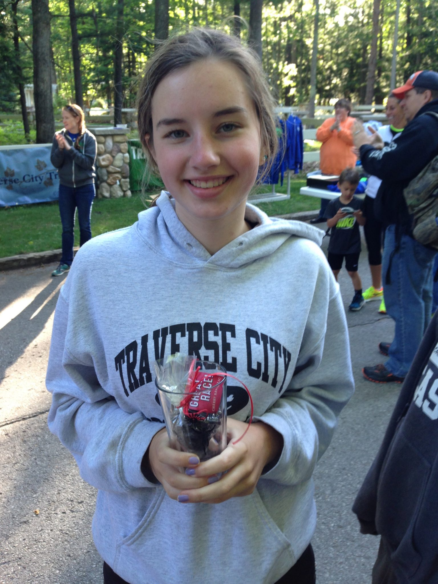 Emma, third in her age group!