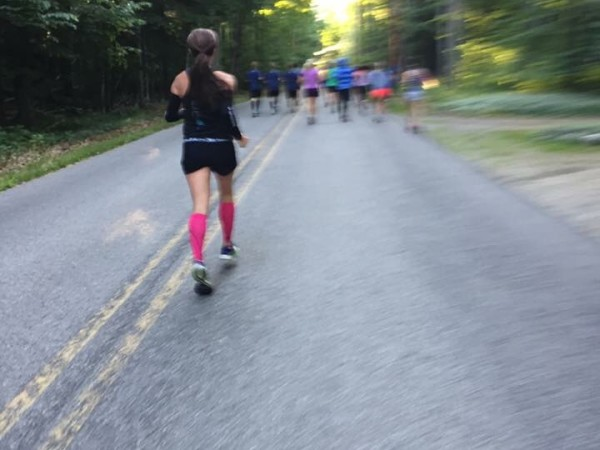 Thanks to Michigan Runner Girl Colleen H. for capturing this moment early on in the race. This was taken during last year's Glen Arbor Solstice Half Marathon. I love this race!