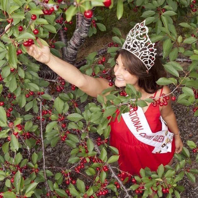 """Chelsea says serving as National Cherry Queen """"has changed my life ... It's been overwhelming, all the things I have been able to do. I have kept a journal. I feel like I've lived five people's lives."""""""