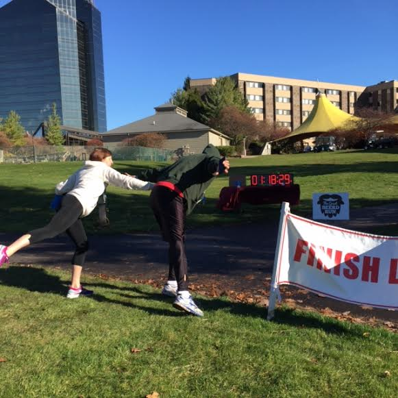 Joe edged me out at the finish...yep, I was dead last! It was so much fun!