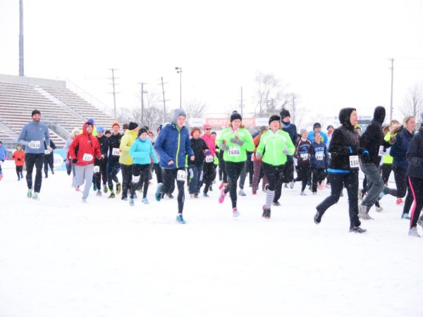 The 2014 Turkey Trot in Traverse City proved to be a cold one! But that didn't stop more than 2,000 runners from coming out for the Thanksgiving morning event. /PHOTO courtesy the TC Turkey Trot.