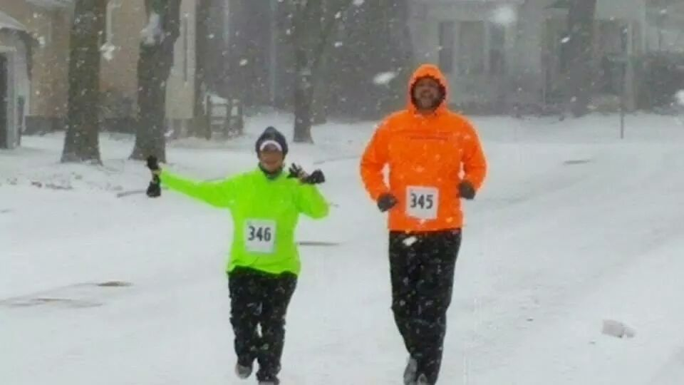 Nicole and Jason at the 2015 Resolution Run in Traverse City.