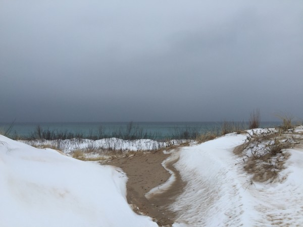 Snowy Glen Haven Beach, one of my favorite stretches of Lake Michigan shoreline.