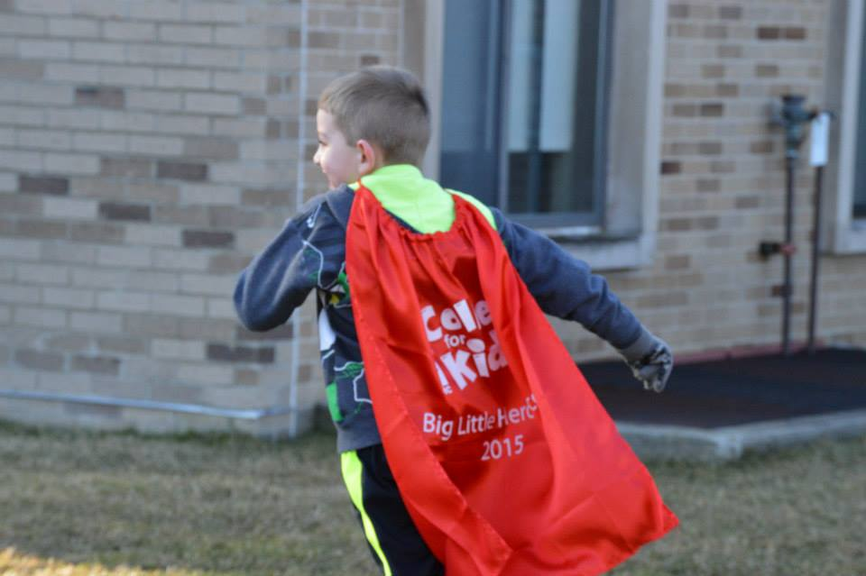 Capes will be handed out at the race.