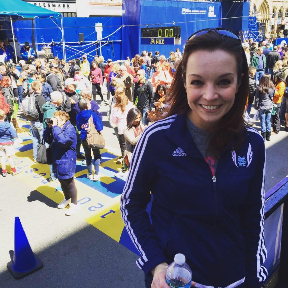 Courtney Hansen at this year's Boston Marathon.