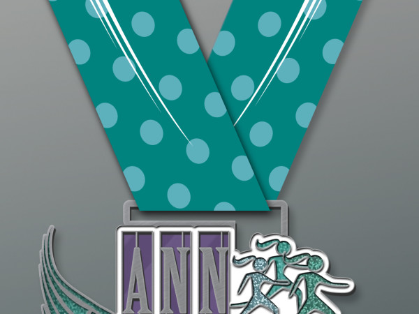 Runners who participate in the Ann Arbor Goddess 5K and Mile Run/Walk receive this race medal. The race takes place Mother's Day, May 8, 2016.