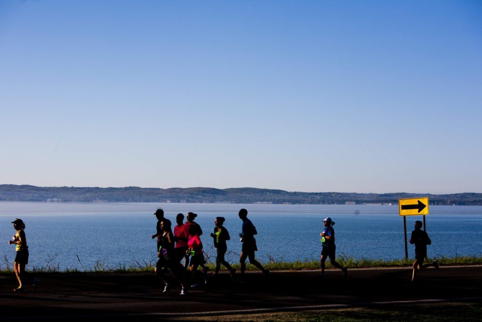 This year's Bayshore Marathon, Half Marathon and 10K take place Saturday, May 28. /PHOTO courtesy Traverse City Track Club.
