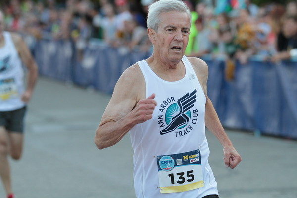 Doug Goodhue, 74, member of the Ann Arbor Running Club. He is the race director of the Dexter to Ann Arbor Run on June 4-5. /Photo courtesy http://www.runningprof.com