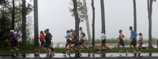 The Bayshore races are known for their beautiful spring scenery. /PHOTO courtesy the Traverse City Track Club.