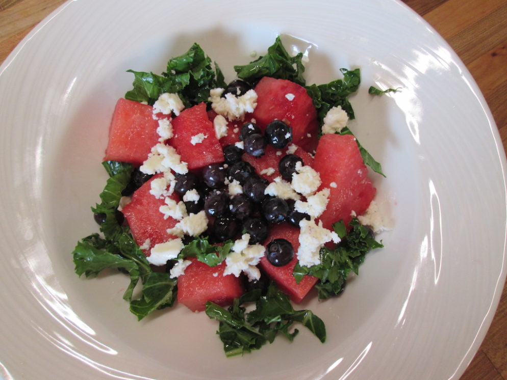 Ali's Blueberry Watermelon Feta Salad.