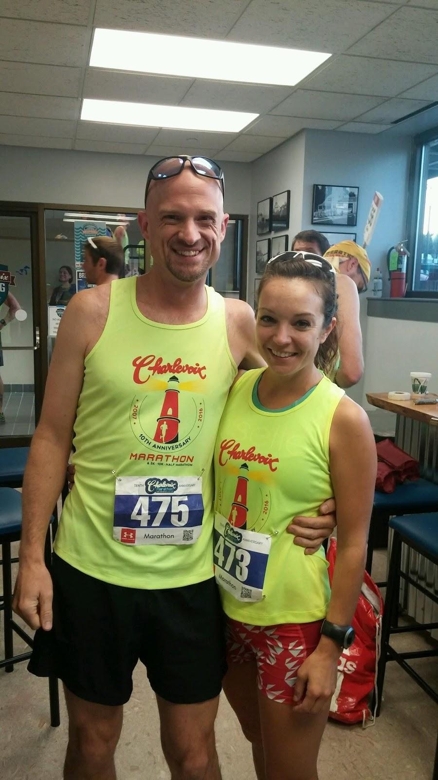 Steve & I pre-race. I still found a way to wear my favorite Oiselle shorts! /Photo courtesy Courtney Hansen.