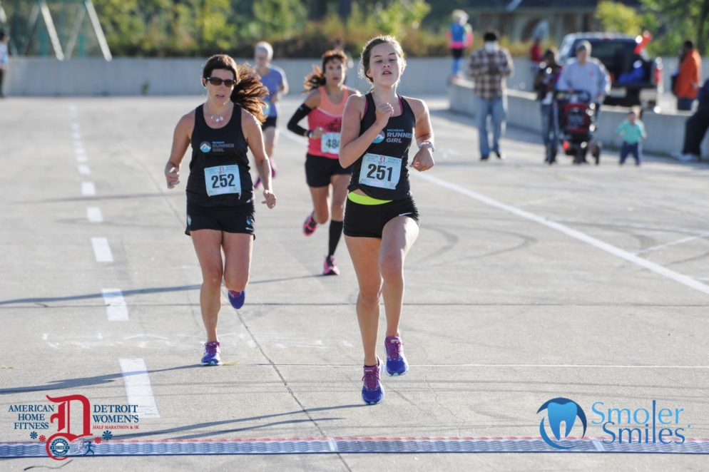 Emma (center) and me, finishing last fall's American Home Fitness Goddess 5K on Belle Isle in Detroit. This year's event, which also features a half marathon and an all-new 10K event, takes place Sunday, Sept. 18. We can't wait to run it again this year!
