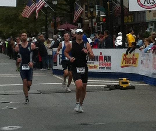 Rob Swartz, competing in a 2011 Half Ironman race.